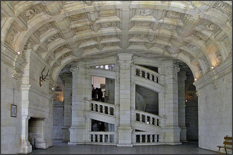 Chambord - le Grand Escalier du Logis central