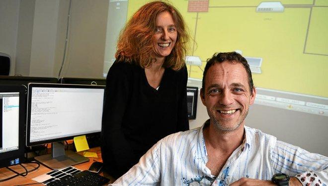 Les fondateurs et co-gérants de Diateam: Guillaume Prigent et Marjorie Nicolas. Photo: Télegramme de Brest
