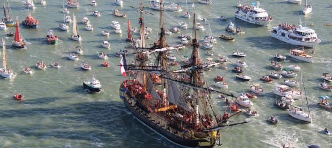 L'Hermione, la grande sœur du vaisseau suédois le Götheborg III, prend la mer le 18 avril pour sa première Transatlantique (2/3)