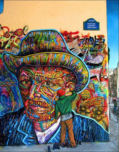 @portrait de Nowart rendant hommage à Mr Vincent