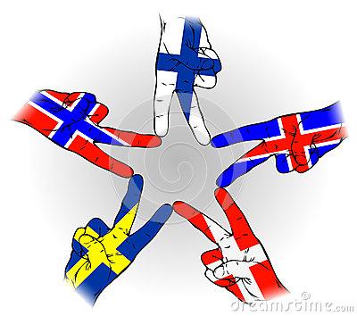 signe-de-paix-des-drapeaux-scandinaves-34259764