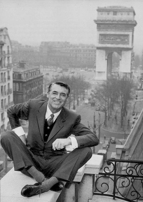 Cary Grant sur la terrasse du Raphaël / Ph: Vintage Hollywood Actor