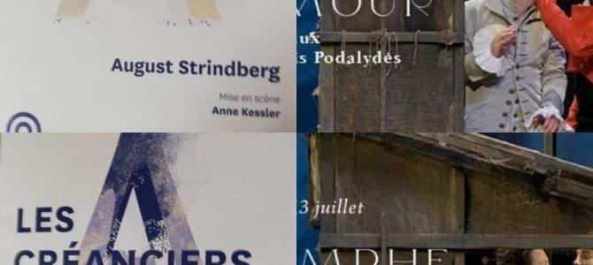 #Théâtre: Le Triomphe de l'Amour de Marivaux et les Créanciers de Strindberg