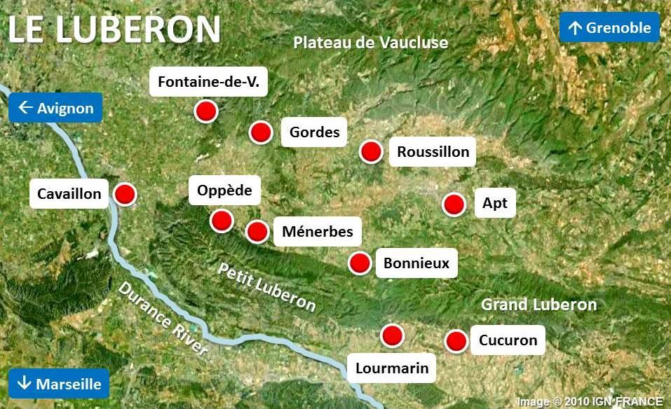 Luberon-Carte